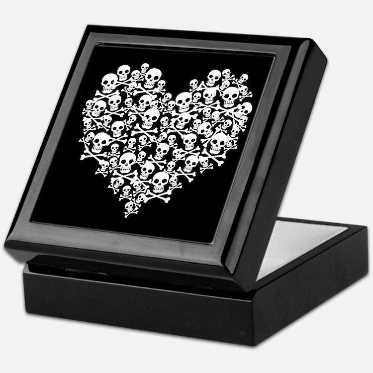 Skull Heart Keepsake Box