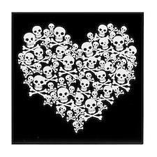 Skull Heart Tile Coaster