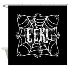 Halloween Cobweb Eek Shower Curtain