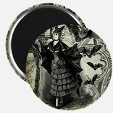 Victorian Halloween Bat Collage Magnet