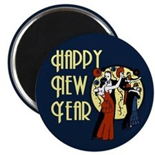 Retro Happy New Year Magnet