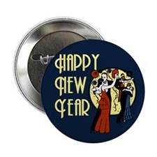 "Retro Happy New Year 2.25"" Button"
