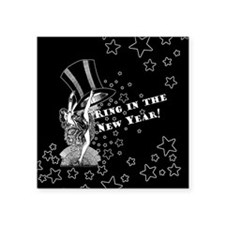 "Vintage Showgirl New Year Square Sticker 3"" x 3"""