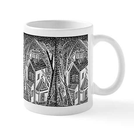 Woodblock San Diego House Mug