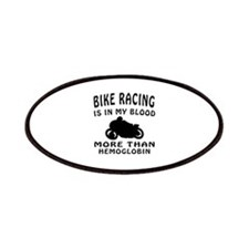 Bike Racing Designs Patches