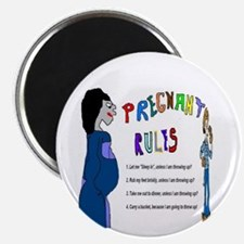 Pregnant Rules Magnet
