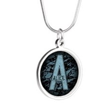 A For Alice Silver Round Necklace