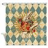 Alice White Rabbit Vintage Shower Curtain