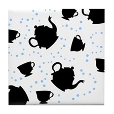 Tumbling Tea Party Tile Coaster