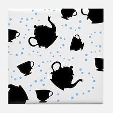 Tumbling Tea Party Tile Coaster