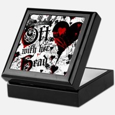 Off With Her Head Keepsake Box