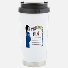 Pregnant Rules Travel Mug