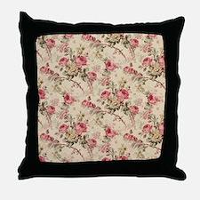 Beautiful Vintage Flowers Throw Pillow