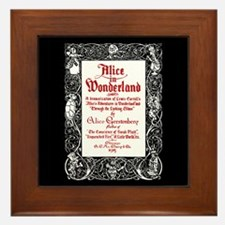 Vintage Alice Title Page Framed Tile