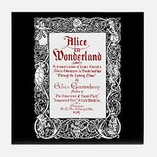 Vintage Alice Title Page Tile Coaster