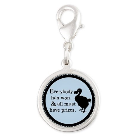 Alice Dodo Everybody Has Won Silver Round Charm