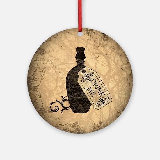 Drink Me Bottle Worn Ornament (Round)