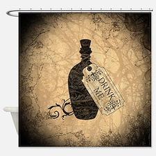 Drink Me Bottle Worn Shower Curtain