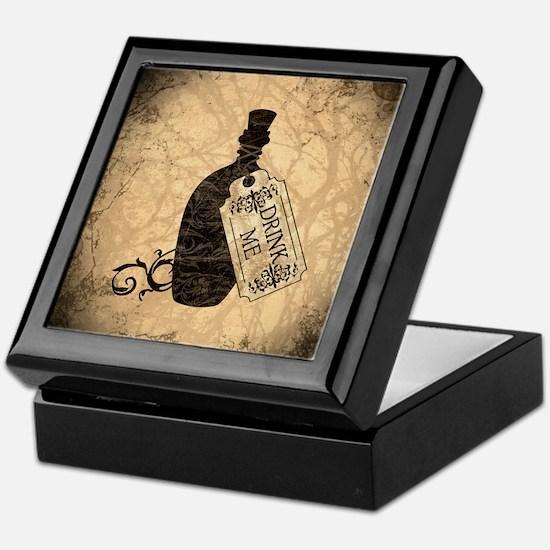 Drink Me Bottle Worn Keepsake Box