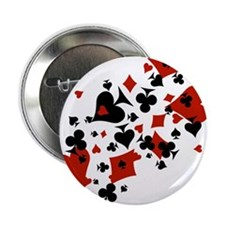 """Scattered Card Suits 2.25"""" Button"""