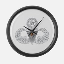 Master Airborne Combat Jump Large Wall Clock