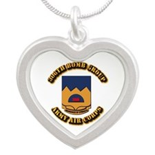 AAC - 306th Bomb Group Silver Heart Necklace