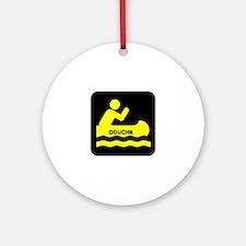 Douche Canoe Ornament (Round)
