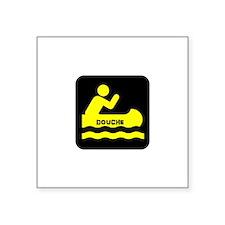 """Douche Canoe Square Sticker 3"""" x 3"""""""