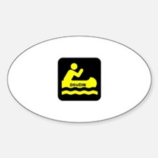 Douche Canoe Sticker (Oval)