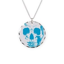 Blue Skull Face Necklace