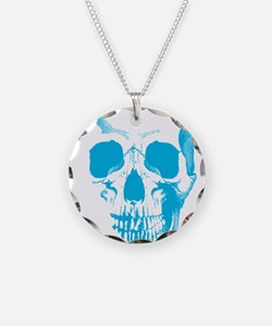 Blue Skull Face Necklace