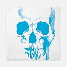 Blue Skull Face Queen Duvet