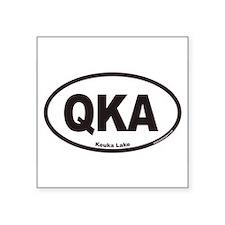 Keuka Lake QKA Euro Oval Sticker