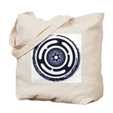 Blue Hecate's Wheel Tote Bag