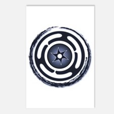 Blue Hecate's Wheel Postcards (Package of 8)