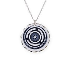 Blue Hecate's Wheel Necklace Circle Charm