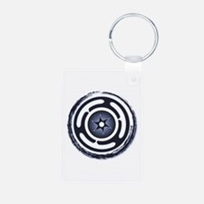 Blue Hecate's Wheel Aluminum Photo Keychain