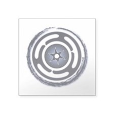 """Blue Hecate's Wheel Square Sticker 3"""" x 3"""""""