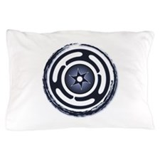 Blue Hecate's Wheel Pillow Case