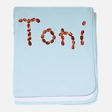 Toni Coffee Beans baby blanket