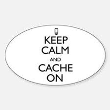 Keep Calm and Cache On Decal