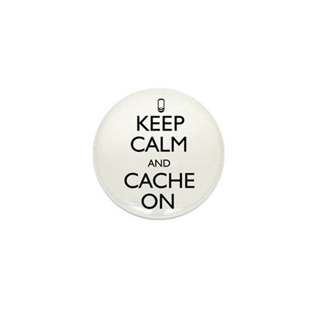 Keep Calm and Cache On Mini Button (10 pack)