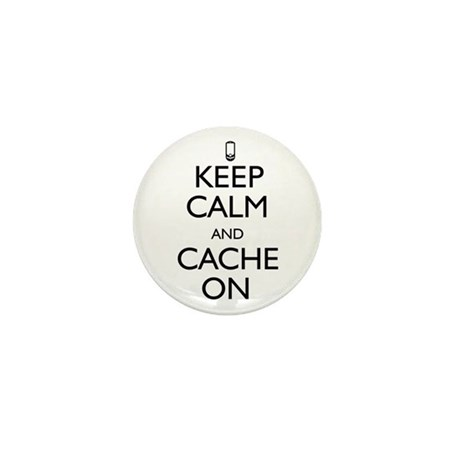 Keep Calm and Cache On Mini Button