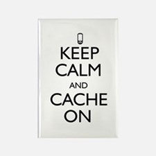 Keep Calm and Cache On Rectangle Magnet