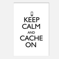 Keep Calm and Cache On Postcards (Package of 8)