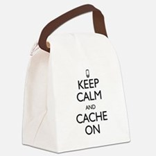 Keep Calm and Cache On Canvas Lunch Bag