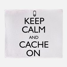 Keep Calm and Cache On Throw Blanket