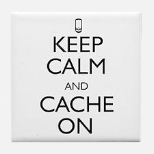 Keep Calm and Cache On Tile Coaster