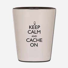 Keep Calm and Cache On Shot Glass