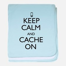 Keep Calm and Cache On baby blanket